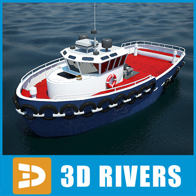 3d model sea tug