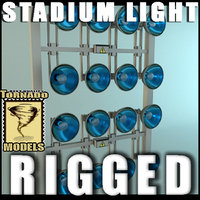 slider control added stadium light 3d model