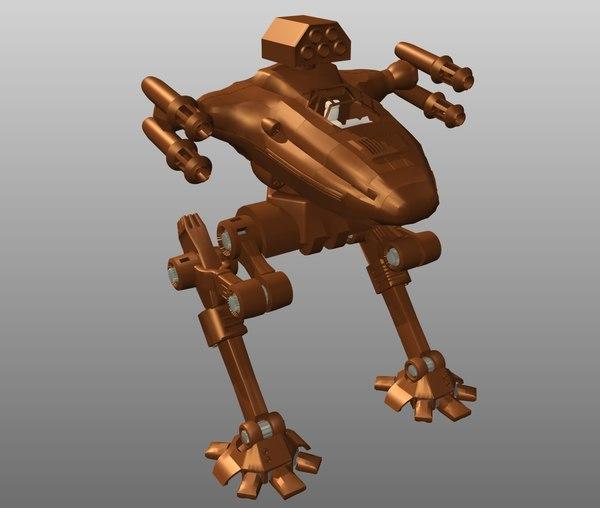 free obj model stiletto battlemech mech
