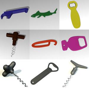 bottle openers 3d 3ds
