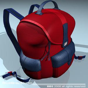 pack backpack 3d model