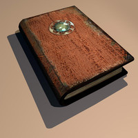 3d model leather book