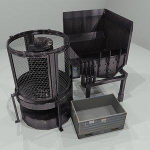 industrial billet tumbler 3d model