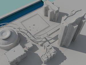 city build fences 3d obj