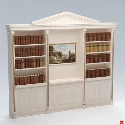 bookcase 3d 3ds