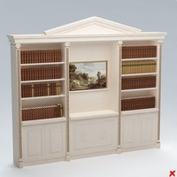 bookcase 3d 3ds