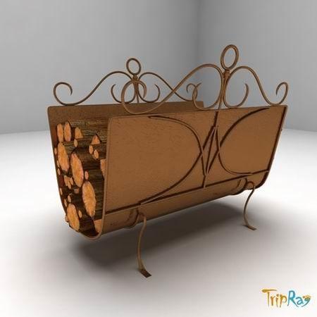 3dsmax fireplace pile logs