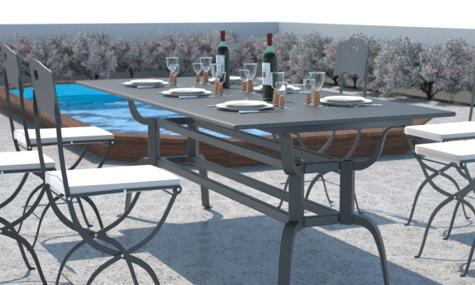 max design table chairs