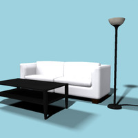 3d living room furniture couch model