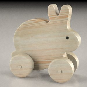 3ds wooden bunny