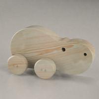 wooden hippo 3d model