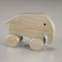 3d wooden elephant