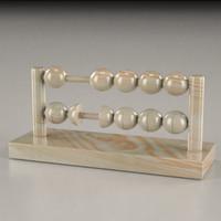wooden counter 3d model