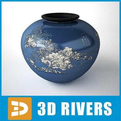 japanese vase 3d model