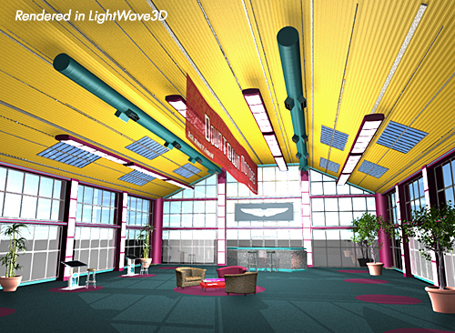 3d model showroom interior