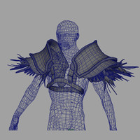 3d wow shoulder armor ironfeather