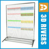 rack shaving display shelf 3d max