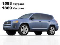 2009 toyota rav4 details 3d model