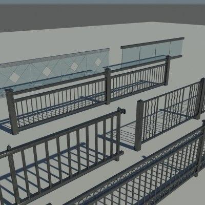 3d railings design