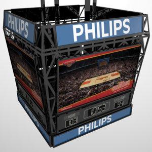 basketball scoreboard w adjustable 3d model