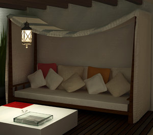 couch terrace sillon 3d model