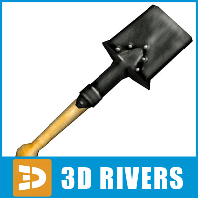 3d model ready small shovel