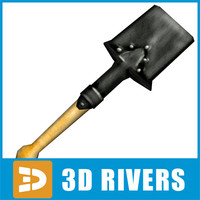 3d model ready small shovel
