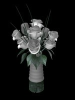 wedding flower 3d lwo