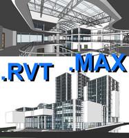 Revit multi purpose building 06 & max file