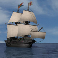 3d drake golden hind model