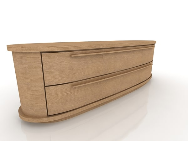 low chest-of-drawers 3d model