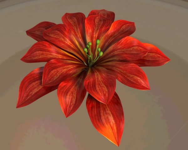3dsmax blooming flower animation