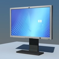 low-poly monitor hp l2465 3d model