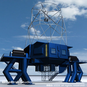3d telescope model