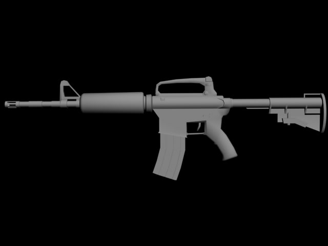shooter weapons 3d model