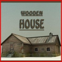 wooden house 3d max