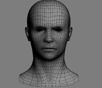 3d base mesh human head model