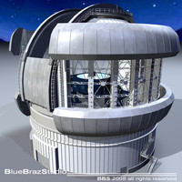 Observatory with telescope