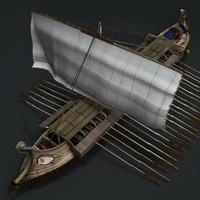 ギリシャの古代船(テクスチャ)