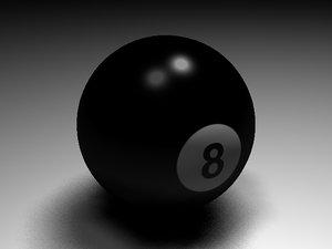 3d model billiard ball