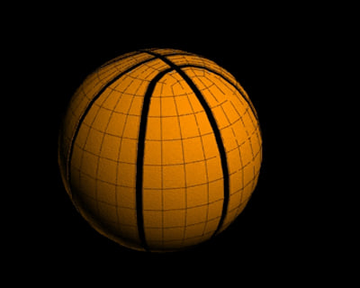free simple basketball 3d model