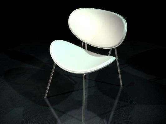 3d chair butterfly model