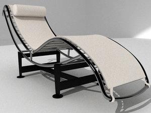 3d model chair silla corbusier