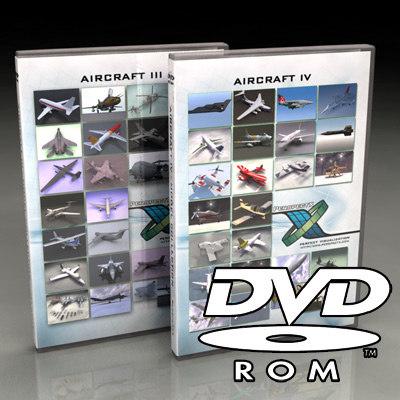 3d aircraft dvd-roms dvds iii model
