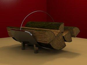 3d model wood holder carrier