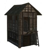 3d old storehouse medieval model