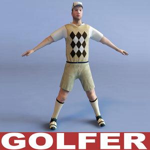 golfer games modelled 3d model