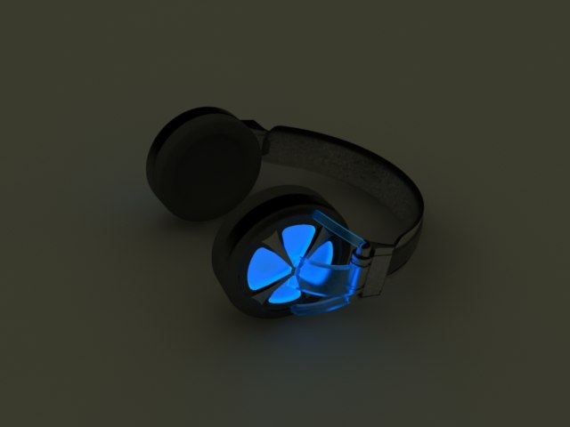 3d max headphones light