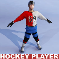 Hockey player static