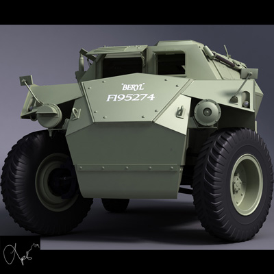 3d model humber scout